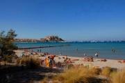 Urlaub mit Hund auf Korsika Strand in Calvi