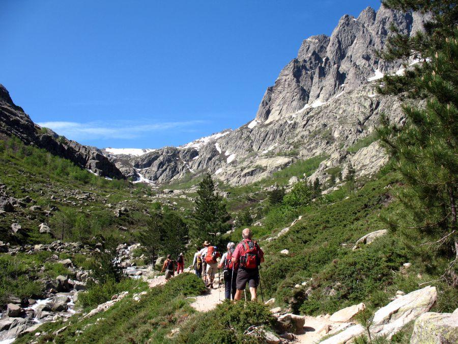 Das Restonica-Tal bei Corte,liegt im Herzen des Parc naturel régional de Corse