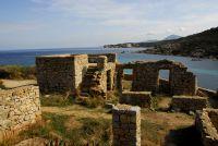 Ein verlassenes Dorf auf der Halbinsel Punta de la Revellata
