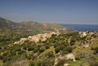 Einen weiten Blick auf die Küste und das Meer hat man von Aregno aus