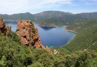 Bucht von Girolata - Blick vom Aufstiegsweg auf die Bucht von Girolata