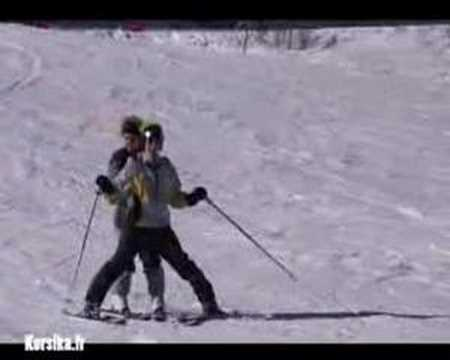 Ski in Ghisoni-Capanelle in den Bergen von Korsika