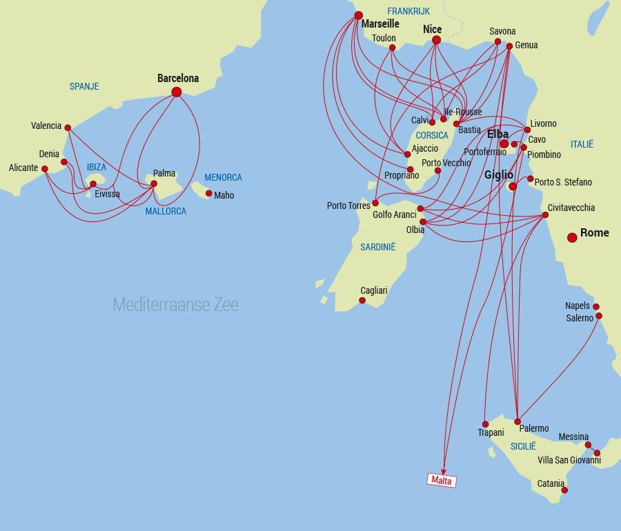 wie man nach Korsika Traversee Corse kommt